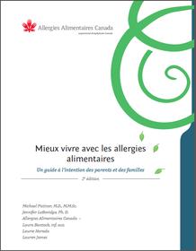 Page couverture du guide Mieux vivre avec les allergies alimentaires