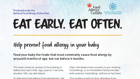 Eat early. Eat often.