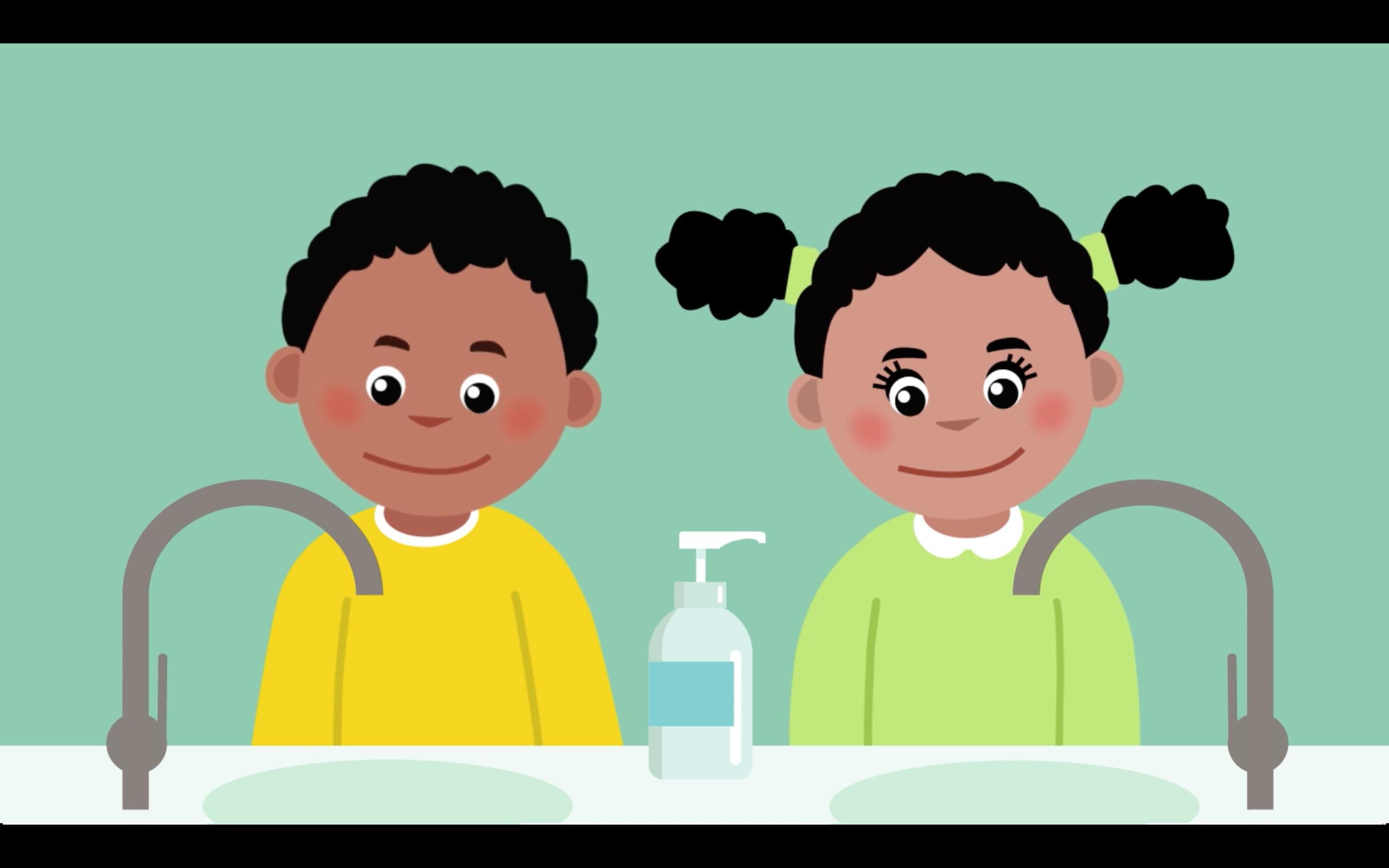 Vidéo à l'intention des enfants sur le lavage des mains